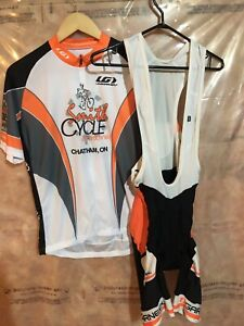 Various cycling and triathlon clothing