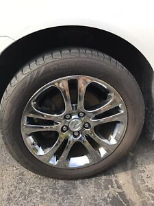 2009Acura MDX original Chrome mags, Nokian summer tire