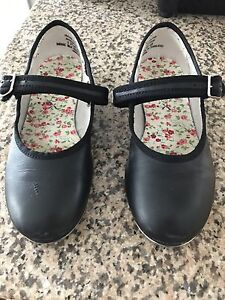 Girls Leather Tap Dance Shoes