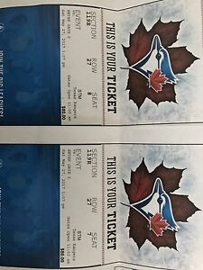 Blue jays tickets for Saturday May 27.