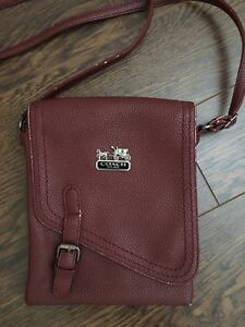 Maroon Coach Purse
