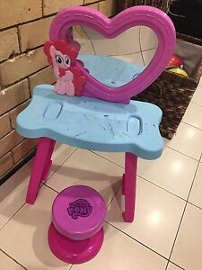 MY LITTLE PONY DRESSING TABLE AND STOOL Bass Hill Bankstown Area Preview