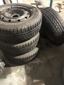 195/65/R15 Winter Tires and Steelies