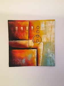 Unique colorful Abstract Original Acrylic Paintings on canvas