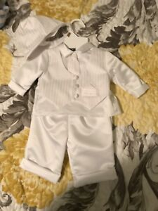 Baby boy baptism outfit size 0-3 months