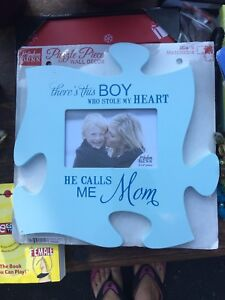 Mother son picture frame. Giftable