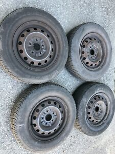 4 rims with summer tiers 195/70/14 for sale 75$