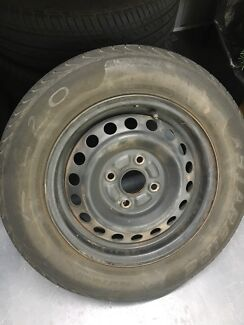 4x100 steel wheels and tyres