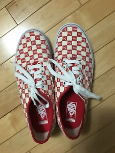 Supreme Checkered Vans Red