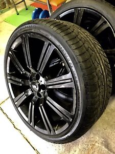 22 inch range rover rims and tires