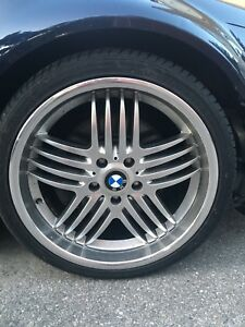 "Bmw m3 e46 19"" wheels and tires. Fits other bmw's"