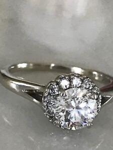 Stunning two carat 18k engagement ring