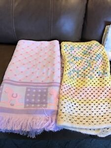 Baby blankets, sheets, receiving blankets