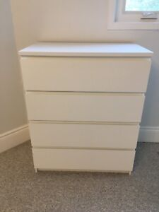 IKEA Malm White 4 Drawer Dresser - GREAT CONDITION!