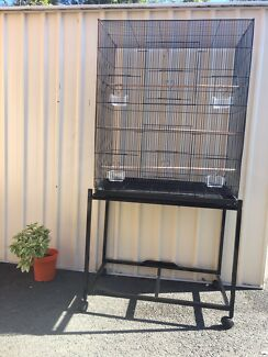 BRAND NEW Tall & Wide flight Cage $80; $120 on trolley; eftpos avail