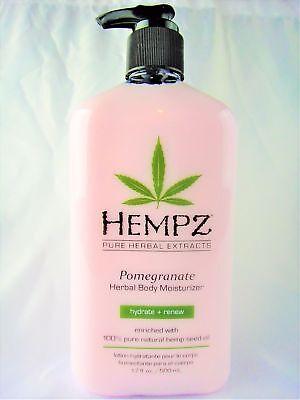 Hempz Pomegranate Herbal Body Moisturizer Lotion 17oz - Herbal Moisturizing Tanning Lotion