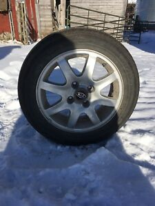 8 tires on kia rims 205-50R16