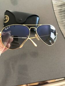 RayBan Polarized Or comme neuves