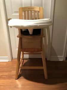 Wooden Highchair (Eddie Bauer)