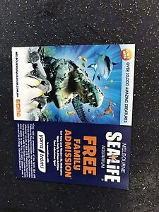 Sealife family pass 2 x adults 2 x children Taylors Hill Melton Area Preview
