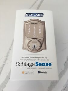 Schlegel Sense Satin Nickel Deadbolt Apple Home (Camelot) BNIB