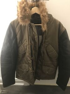 Parasuco Women's Leather Jacket w/ Fur Hood