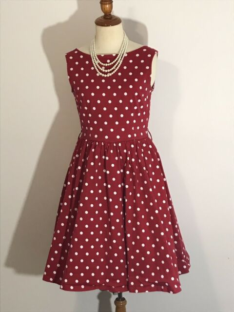 04a6424f0ba7 Lindy Bop Red with White Polka-Dot 1950's Style Dress (Size 8-10 ...