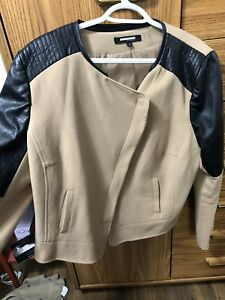 Size 18 faux suade and leather jacket