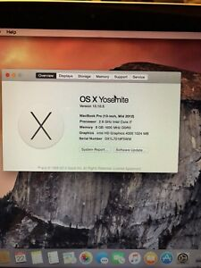 MINT MacBook Pro 2012 i7 8GB LOW CYCLE COUNT.