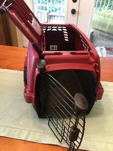 Small animal (rabbit) cage, accessories and travel crate