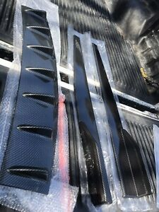 Carbon fibre diffuser, skirts and canards