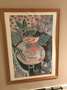 Matisse les poissons rouge print in frame