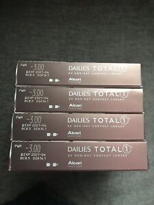 Dailies Total 1 Contact Lenses: Rx -3.00, 4 boxes (90-pack each)