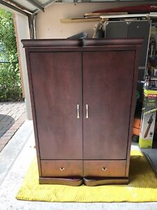 Mahogany Coloured Wood TV cabinet