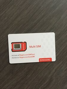Brand new Rogers Multi SIM card
