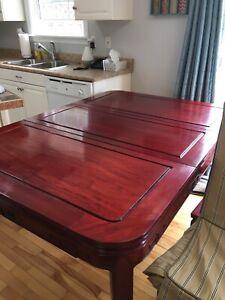 Cherry wood dining room set