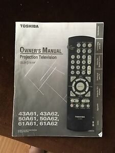 50 inch Toshiba projection screen tv