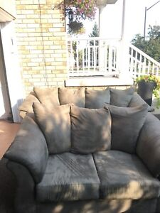 Ashley Sofa Set with free leather coffee table