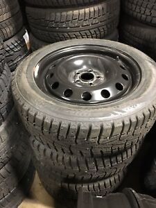 4 like new rims and tires 205 55 16 nexen winter tires