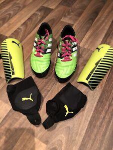 Lot#200 - Soccer (soulier Adidas 3 1/2 , jambières Puma)
