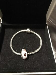 Authentic small Pandora bracelet with Disney Mickey Mouse charm