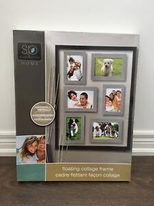 Brand new and boxed floating collage frame