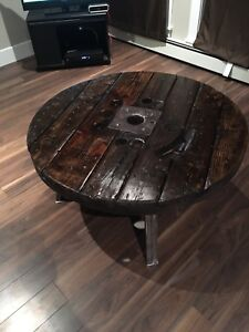 Round handmade Wooden Coffee Table