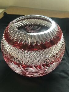 Bohemian crystal glass bowl