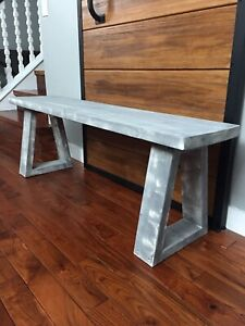 Solid wood bench/ ottoman
