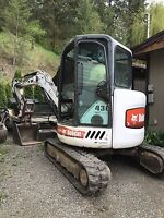 Mini excavator for rent - Benter Landscaping/irrigation