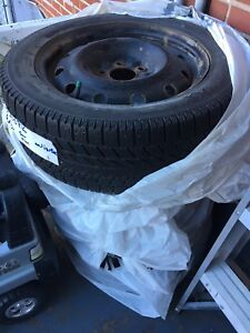 Almost new winter tires 205/55R16 with rims
