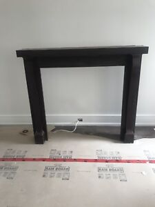 Solid wood fireplace mantle