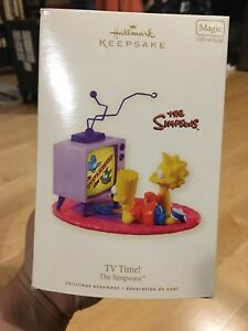 Simpsons Itchy and Scratchy tv ornament