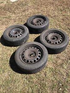 VW Rims & Tires LIKE NEW 205/55R16 & 5x100